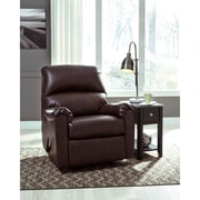Signature Design by Ashley Talco Rocker Recliner in Faux Leather (5199RECBRG)