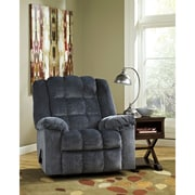 Signature Design by Ashley Ludden Rocker Recliner in Twill (6199RECBLU)