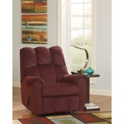 Signature Design by Ashley Raulo Rocker Recliner in Fabric (6719RECBRG)