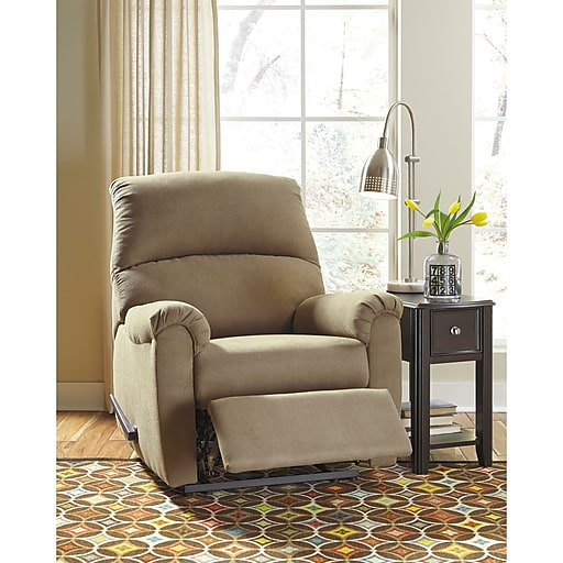 Signature Design By Ashley Raulo Rocker Recliner In Fabric