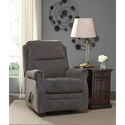 Signature Design by Ashley Earles Rocker Recliner in Fabric (6059RECFLN)