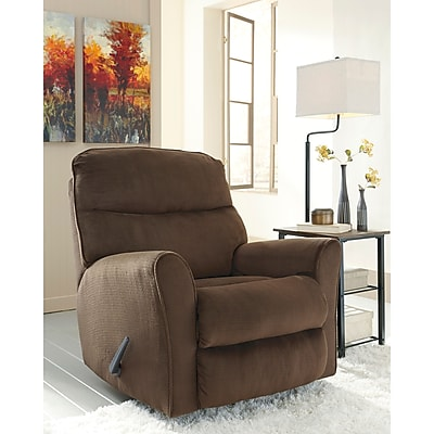 Signature Design by Ashley Cossette Rocker Recliner in Fabric (1069RECCHO)