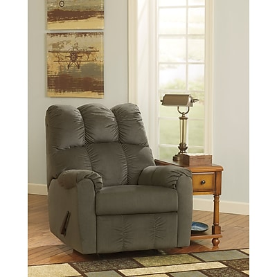 Signature Design by Ashley Raulo Rocker Recliner in Fabric (6719RECMOS)