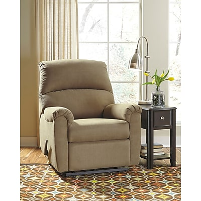 Signature Design by Ashley Otwell Wall Hugger Recliner in Fabric (8759RECHUGCOA)