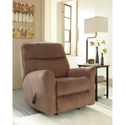 Signature Design by Ashley Cossette Rocker Recliner in Fabric (1069RECCOA)