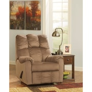 Signature Design by Ashley Raulo Rocker Recliner in Fabric (6719RECMOC)