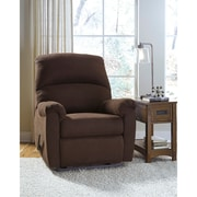 Signature Design by Ashley Otwell Wall Hugger Recliner in Fabric (8759RECHUGJAV)