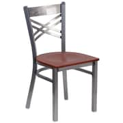 HERCULES Series Clear Coated ''X'' Back Metal Restaurant Chair (XU6FOBCLCHYW)