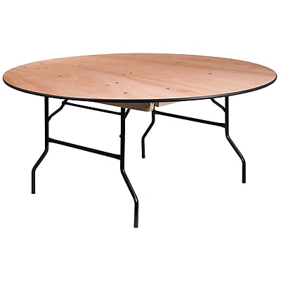 Https://www.staples 3p.com/s7/is/. ×. Images For 66u0027u0027 Round Wood Folding  Banquet Table With ...