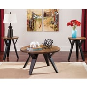 Signature Design by Ashley Ingel 3 Piece Occasional Table Set, Dark Brown (TS347TTB)