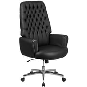High Back Traditional Tufted Leather Executive Swivel Chair with Arms (BT444BK)
