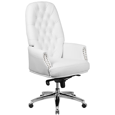 High Back Traditional Tufted Leather Multifunction Executive Swivel Chair with Arms (BT90269HWH)