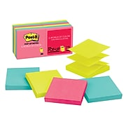 """Post-it® Pop-up Notes, 3"""" x 3"""" Cape Town Collection, 90 Sheets/Pad, 12 Pads/Pack (R330-12AN)"""