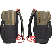 General Supply Day Backpack, Solid, Black/Tan (RQ23100)
