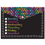 Ashley Decorated Poly Folder Chalk Days of The Week Decorated, 8.5 inch x 11 inch , 1 Pocket, Bundle of 6... by