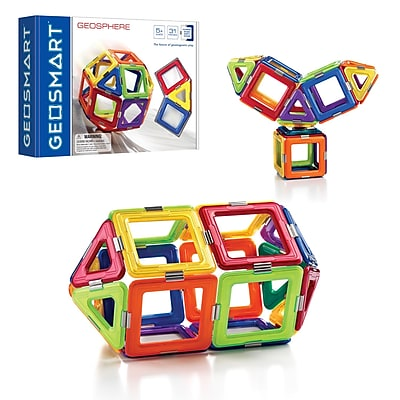Smart Toys and Games Geosphere 31pc Magnetic Construction, Assorted Colors (SG-GE0210US) 24063039