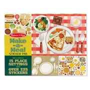 "Melissa & Doug, Make a Meal Sticker Pad, 14"" x 11"" x 0.197"" (LCI4193)"