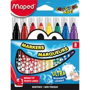 Maped Color'Peps Broad Tip Washable Markers, 6 Packs of 8 (MAP846048)