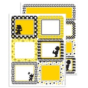 "Eureka Peanuts Touch of Class Label Stickers, 4.6"" x 7.3"" Bundle of 6, 56/pk total of 336 (EU-656152)"