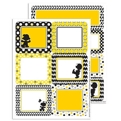 Eureka Peanuts Touch of Class Label Stickers, 4.6