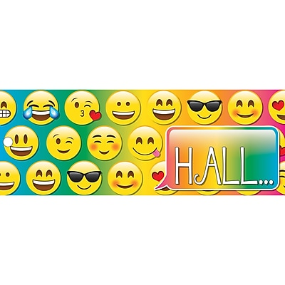 Ashley Laminated Emoji Hall Pass, Bundle of 3 (ASH10665)