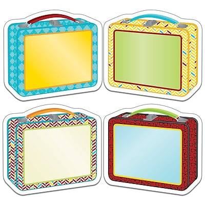 Carson Dellosa Hipster Lunch Boxes Cut Outs, 8