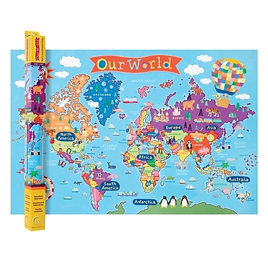 Round World Products World Map For Kids X RWPKM - Round world map image