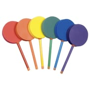 "Badminton Foam Paddle Set, 12"", rainbow colored, Set of 6 (CHSBAFSET)"