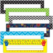 "Teacher Created Resource, Name Plates Set 1 Line, 3-1/2"" x 11-1/2"" (TCR9939)"