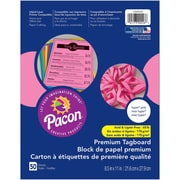 """Pacon, Premium Tagboard Hyper Pink, 8.5"""" x 11"""", Bundle of 5 Packs for a total of 250 Sheets (PAC1000026)"""