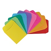 Hygloss Self-Adhesive Library Pockets, Multicolored, 30/Pack (HYG15730)