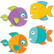 """Carson Dellosa, Fish Cut Outs, 36pk, 3"""" x 2.5"""" Assorted Colors (CD-120199)"""