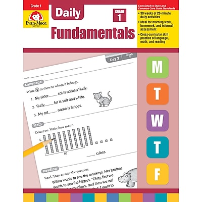 Evan-Moor Daily Fundamentals, Grade 1 - Teacher's Edition (EMC3241)