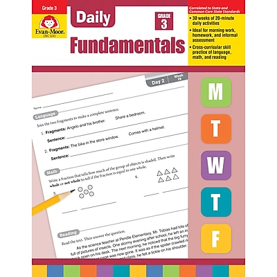 Evan-Moor Daily Fundamentals, Grade 3 - Teacher's Edition (EMC3243)