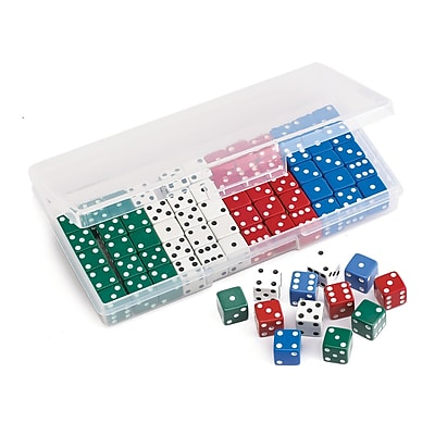 Learning Advantage Dot Dice 16mm, Assorted Colors, 72/Pack (CTU16077)