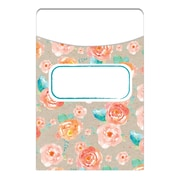 Eureka Confetti Splash Library Pockets Floral Toss, Bundle of 6 total 210 (EU-866402)