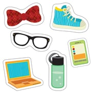 """Carson Dellosa Hipster Gear Cut Outs, 3.5"""" x 5.25"""", Assorted Colors (CD-120218)"""
