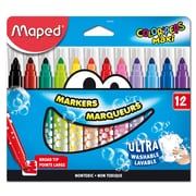 Maped Color'Peps Broad Tip Washable Markers, 3 Packs of 12 (MAP846049)