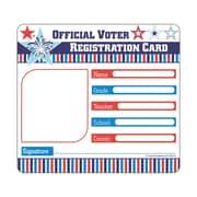"Carson Dellosa Voter Registration Card Cut Outs, 8"" x 6.4"", Assorted Colors (CD-120219)"