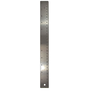 The Pencil Grip Stainless Steel 12in Ruler, Bundle of 12 (TPG152)
