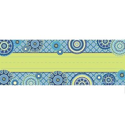 Eureka Blue Harmony Name Plates 1 Line, 9.625