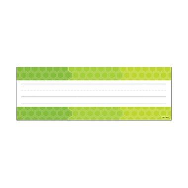 Creative Teaching Press, Ombre Lime Grn Hexagons Name Plates-Paint , 9.5