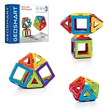 Smart Toys and Games, Solar Spinner 23pc Magnetic Construction, Assorted Colors (SG-GE0200US)