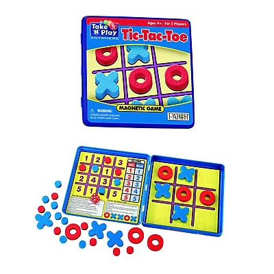 Playmonster Take n Play Anywhere Game Tic Tac Toe, Red and Blue (PAT675) 24063172