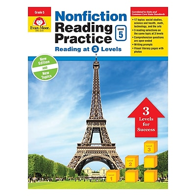 Evan-Moor Nonfiction Reading Practice Gr 5 (EMC3235)
