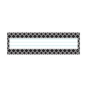 """Trend, Moroccan Black Desk Tooppers Name Plates, 1 Line, 2 7/8"""" x 9 1/2"""" Bundle of 12, 36/pk total of 432 (T-69250)"""