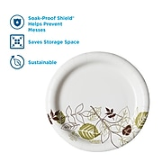"Dixie Pathways Medium-Weight Paper Plates, 6 7/8"", 125/Pack (UX7WS)"