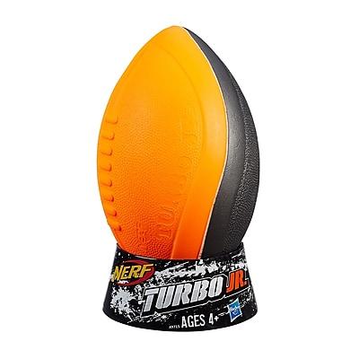 Nerf N-Sports Foam Turbo Jr. Football, Orange & Gray, Bundle of 3 (HG-A9715)