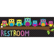 Ashley Laminated Owls Restroom Pass, Bundle of 3 (ASH10668)