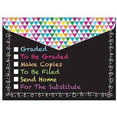 Ashley Decorated Poly Folder Chalk Tasks, 8.5